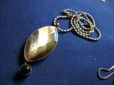 Chunky Gem Stone Necklace Grandmas Estate 925 Sterling Silver