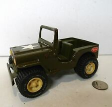 VINTAGE TONKA ARMY COMMAND JEEP Willys Green w/ White Star Steel Toy !!!