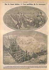 Italia Front Artillery Ammunition Boyau Communication Soldiers Italy WWI 1915
