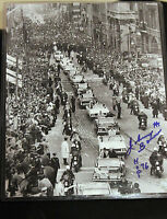 Johnny Bower Signed 8 X 10 Photo With COA 1967 STANLEY CUP PARADE ON BAY STREET