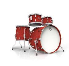 British Drum Co Legend Series Buckingham Scarlett Drum Kit LEG-22-FS-BS