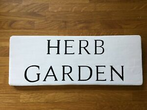Personalised Rustic HERB GARDEN Wooden Painted Sign Outdoor ANY TEXT House Gate