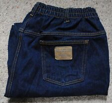 NEW Sz 44S NORMAN ROCKWELL Jeans by Haband Elasticized Back Waist Cotton Dark