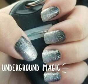 9L3GoColorStreet UNDERGROUND MAGIC Nail Strips Glitter Ombre RETIRED **+TWOSIE**