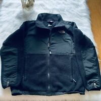 North Face GIRLS Large 14/16 BLACK Polartec Fleece Jacket Full Zip
