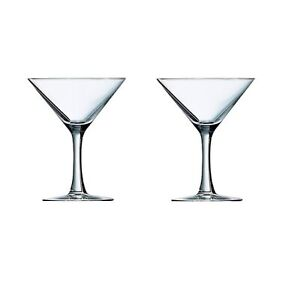 Set Of 2 Luminarc Seattle Martini Glass Clear Cocktail Drinking Glass 225ml 23cl