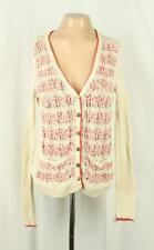Sparrow Anthropologie Sz M Not Your Boyfriend's Cardigan Sweater Red Ivory