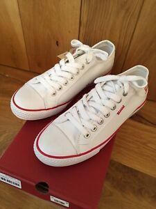 Mens Levis Deck Shoes Trainers White Stan Buck Uk Size 8