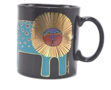 Laurel Burch Gold Lion Cat Black Mug Vintage Coffee Tea
