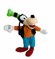 "Disney Goofy Beanbag Plush Stuffed Animal Toy Factory Orange Shirt Green Hat 14"""