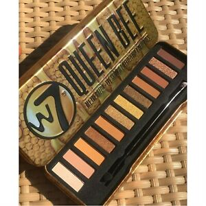 W7 Queen Bee Eyeshadow Palette Eye Shadow Tin Natural Nude Smokey Glitter Matte