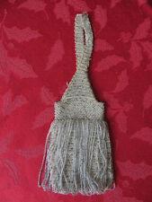 Vintage Antique Victorian Era Mini Micro Beaded Crochet Bag Purse
