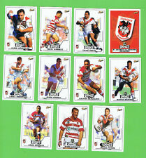 2001 ST GEORGE ILLAWARRA DRAGONS  SELECT RUGBY LEAGUE CARDS