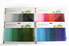 craft organza sheets organiser embellishments stickers bows cards 20 sheets new