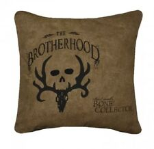 """Bone Collector Pillow by Michael Waddell 20"""" x 20"""" Square Tan Skull Antler Logo"""