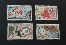nystamps French St. Pierre & Miquelon Stamp # 374-377 Mint OG H $34  U18y3296
