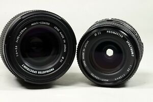 Pair of Promaster Lenses for Nikon AIS 28mm/70-210mm