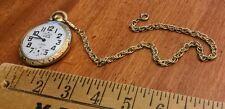 Pocket Watch W/ Chain, Runs, Clean! North Star 17 Jewels Shock Absorber Railroad