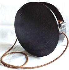 "FENDI  ✿*゚"" RARE "" Hard Wood Round Tote Box Clutch  Bag Handbag .*"