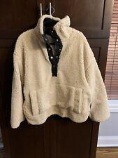 Free People Sherpa Fleece Pullover Cream Size l
