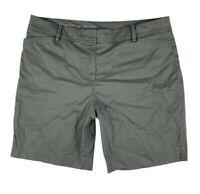 Talbots Women 14 Perfect Shorts Walking Chino Khakis Pockets Green