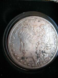 OLD 1887 O U.S.MORGAN LIBERTY EAGLE SILVER DOLLAR BULLION BARTER COIN + GOLD