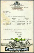 The Robe 1955 Movie - Victor Mature --   Melburne Australia  Letter Head Rare