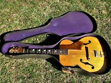 KAY MARWIN ARTISTE ARCHTOP GUITAR, 1940'S. BLOND, WAVERLY TUNERS, BEAUTIFUL CASE