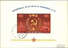 Roemenië Blok 49 gestempeld 1961 runänische. Communistische. Feestje