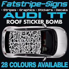 AUDI TT GRAPHICS STICKER BOMB ROOF CAR GRAPHICS DECALS STICKERS QUATTRO 1.8 GUN