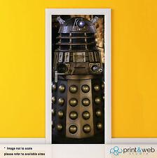 Dr Who Dalek Box Vinyl Door Wrap Decal Sticker Self Adhesive Police Box Bedroom