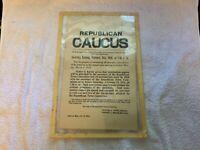 Feb 24 1914 Antique Dighton Massachusetts Republican Caucus Broadside Poster