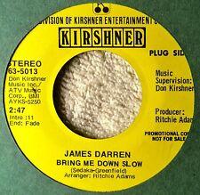 James Darren Bring Me Down Slow DJ Promo NM 45 Pretty Ballad More and Teen Pop