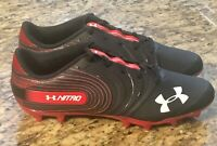 Under Armour Nitro Low MC Black And RED Cleats Sz 12.5 Men 3021067-001 *NEW* #UA