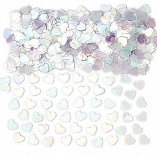 Iridescent Ivory Pink Heart Table Confetti Wedding Engagement Party Decorations