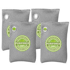 Nature Fresh Air Purifier Bag Style Charcoal Bamboo Purifying Mold Odor 4Pk