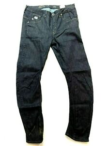 G-STAR Raw Denim Straight Tapered Jeans Mens Raw Wash Mid Rise Pants Size 28 New