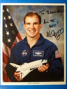 .NASA Raumfahrt - MICHAEL J. BLOOMFIELD - 20x25cm Großfoto (mit Widmung)