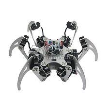 18DOF Aluminium Hexapod Spider 6 Leg Robot Kit w/ Servo Horn Ball Bearing-Silver