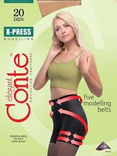 Lot of 3 Packs CONTE Elegant Women's Shaping Tights 20 Den X-PRESS S M L XL