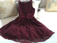 girls dresses size 14, Zunie, Burgundy Red Lace, New With Tags