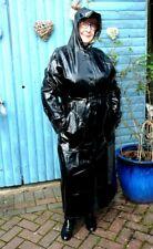 shiny black pvc plastic raincoat with hood regenmantel fetish Tv XXL   box 2