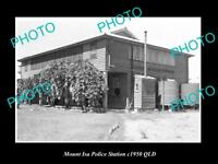 OLD LARGE HISTORIC PHOTO OF MOUNT ISA QLD, VIEW OF THE POLICE STATION c1950