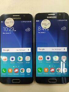 Lot of 2 Samsung Galaxy S6 G920V Verizon Check IMEI Poor Condition IP-1499