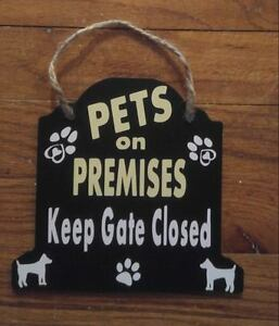Personalized hanging Dog sign - funny beware of dog warning sign Design your own