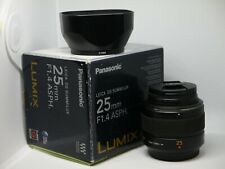 Panasonic LEICA DG SUMMILUX 25mm F1.4 ASPH. Lens 25 F1,4 HX025 Micro Four Thirds