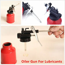 250ml Red Metal High Pressure Pump Oiler Oil Can Gun For Lubricants Universal