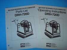 MQ Reversible Plate Compactor DRH-720D Operating Instructions & Parts List(1993)