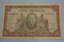 1940 100 PESETAS CHRISTOPHER COLUMBUS BANKNOTE SPAIN PICK#118a F