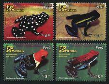 Peru 2017 Frösche Amphibien Frogs Amphibians Postfrisch MNH